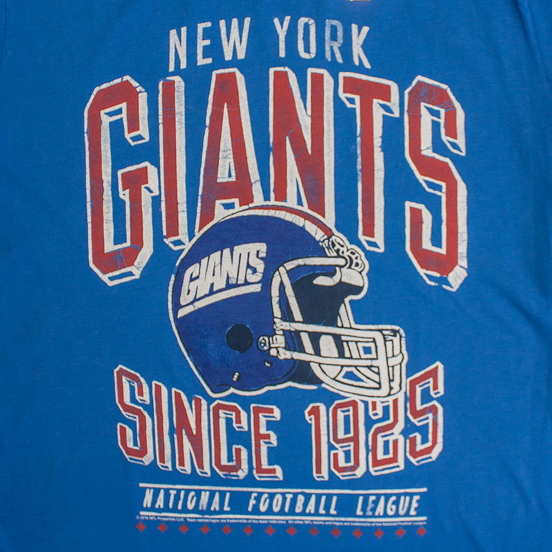 Junk Food Blue New York Giants 1925 NFL T-Shirt