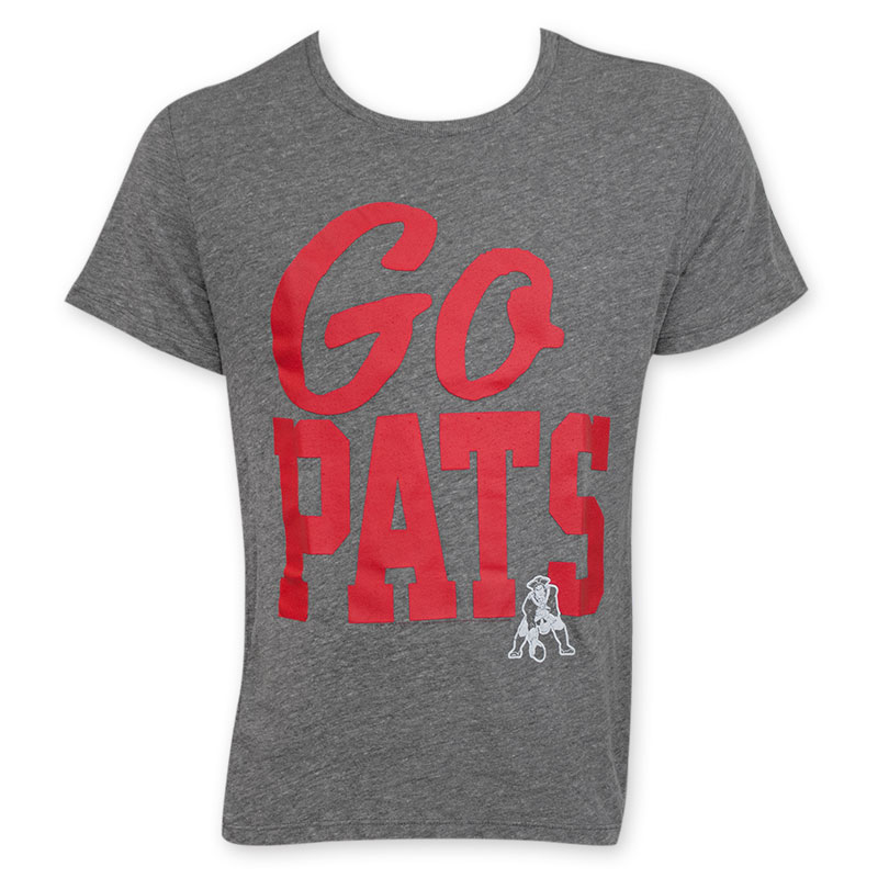 Junk Food NFL Go Pats Men s New England Patriots Tee Shirt 323fed4c7