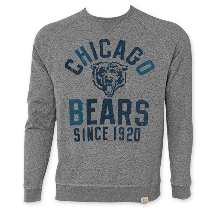 NFL Chicago Bears Grey Junk Food Crewneck Sweatshirt