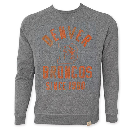 NFL Denver Broncos Men's Since 1960 Junk Food Crewneck Sweatshirt