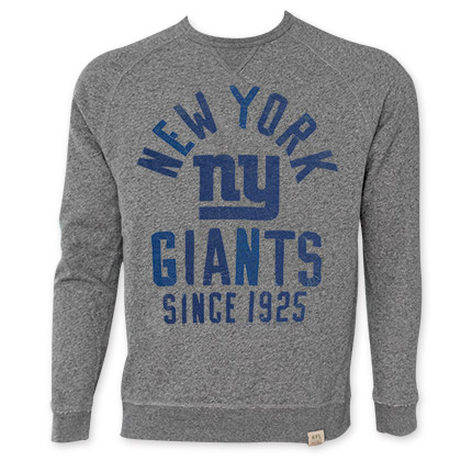 NFL New York Giants Grey Junk Food Crewneck Sweatshirt