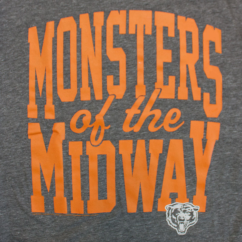 Junk Food Grey Chicago Bears NFL Monsters Of The Midway Tee Shirt