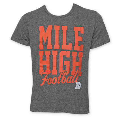 Junk Food Grey Denver Broncos Mile High Football NFL T-Shirt