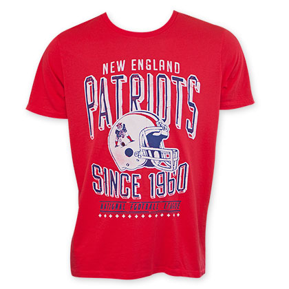 Junk Food Retro NFL New England Patriots Men's Tee Shirt