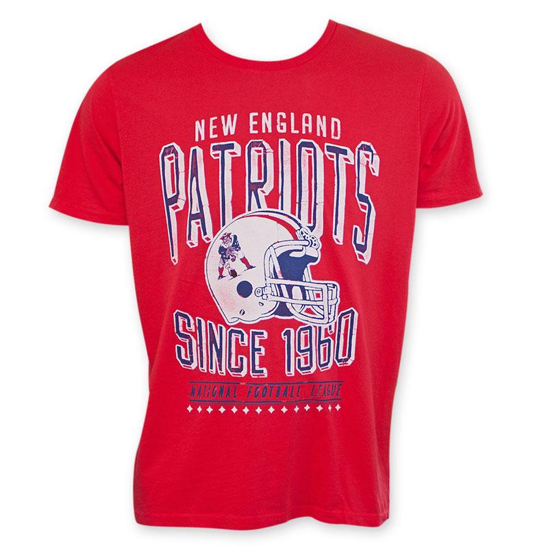 bc2803d4f Junk Food Retro NFL New England Patriots Men s Tee Shirt