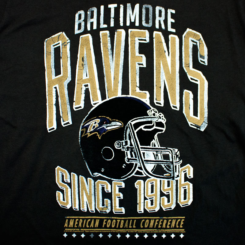 Junk Food NFL Baltimore Ravens Vintage Men's Tee Shirt