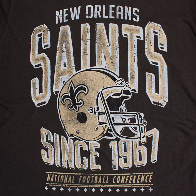 Junk Food Retro NFL New Orleans Saints Men's Tee Shirt