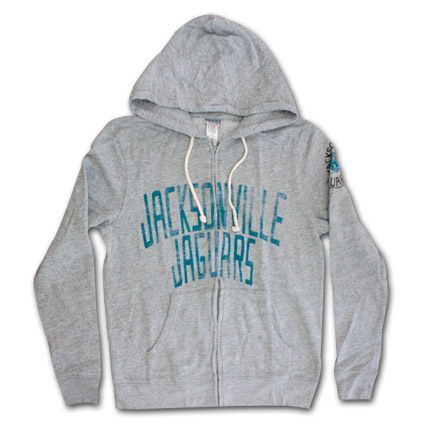 Jacksonville Jaguars Zip Up Junk Food Brand Hoodie