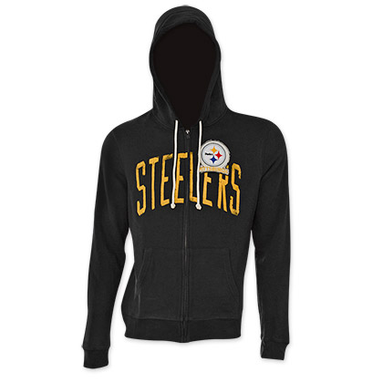 NFL Pittsburgh Steelers Junk Food Black Hooded Sweatshirt