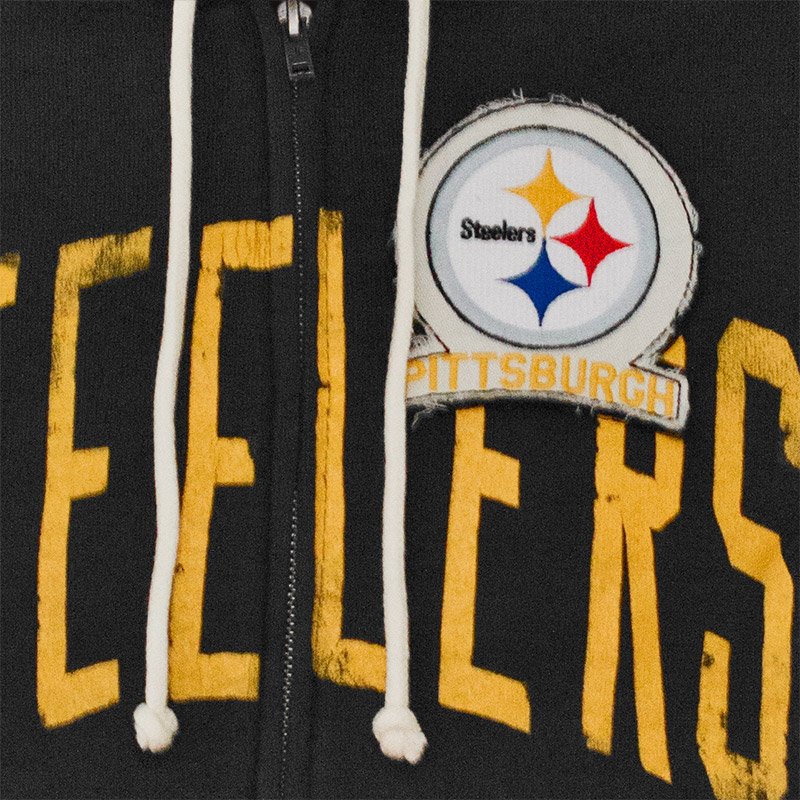 3ad7c198e NFL Pittsburgh Steelers Junk Food Black Hooded Sweatshirt