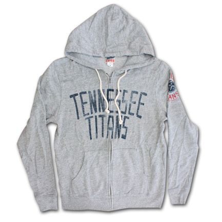 Tennessee Titans Zip Up Junk Food Brand Hoodie