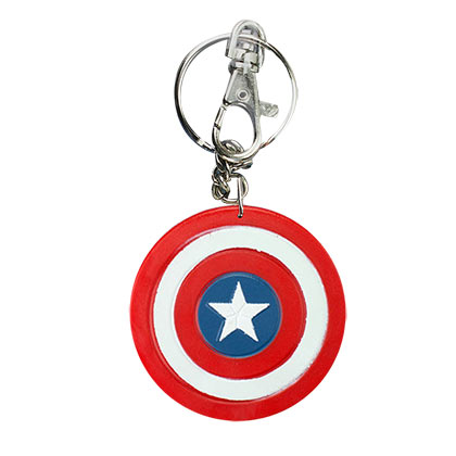 Captain America Bendable Logo Keychain