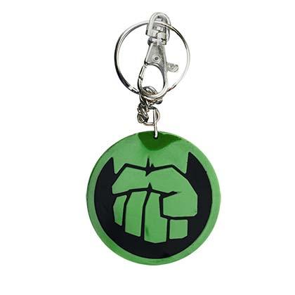 Hulk Comic Fist Icon Rubber Keychain