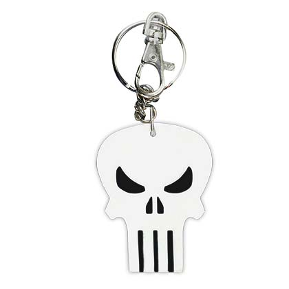 Punisher Comic Logo Bendable Keychain