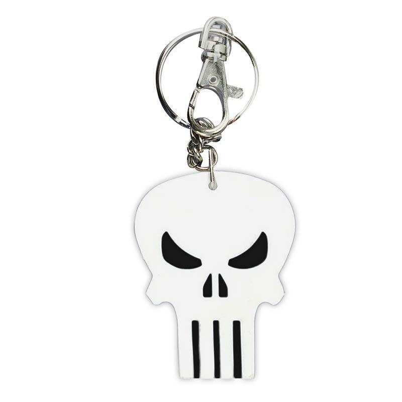 Punisher Comic Logo Bendable Keychain