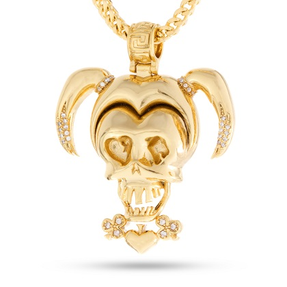 Suicide Squad Harley Quinn Gold Necklace