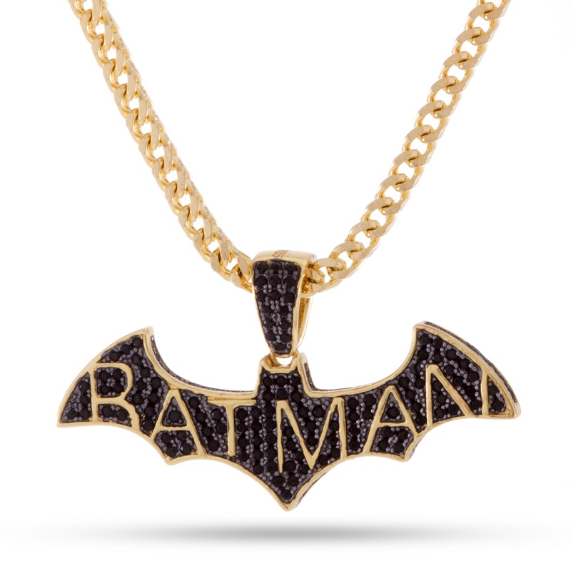 Batman Logo Black and Gold Necklace