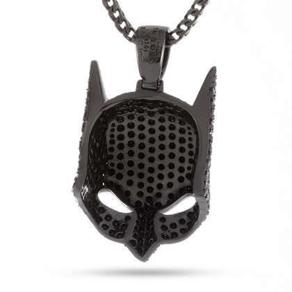 Batman Mask Black Necklace