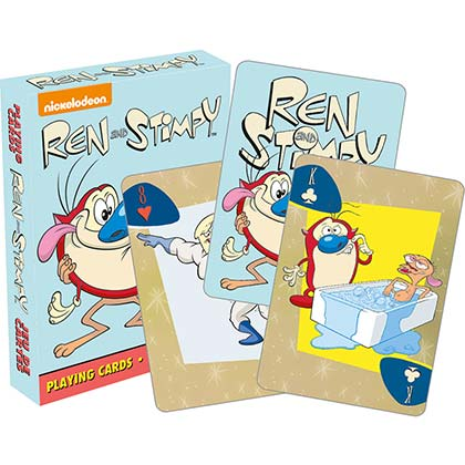 Ren And Stimpy Nickelodeon Playing Cards