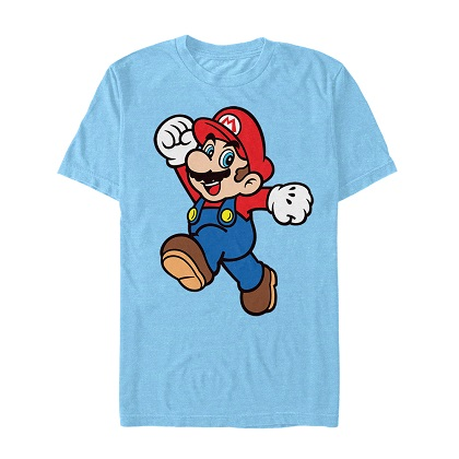 Mario Power Pose Light Blue Tshirt