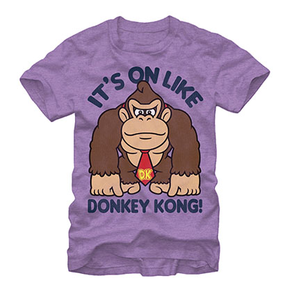 Nintendo On Like Donkey Kong Purple T-Shirt