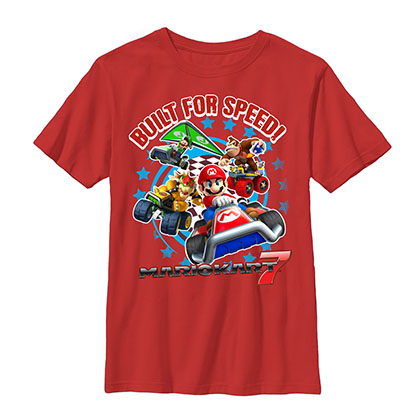 Nintendo Mario Kart Chase Red Youth Boys 8-20 T-Shirt