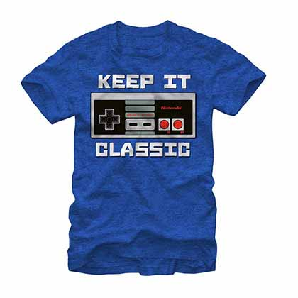 Nintendo Keep it Classic Blue T-Shirt