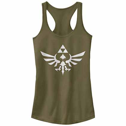 Nintendo Legend of Zelda Triumphant Triforce Green Juniors Tank Top