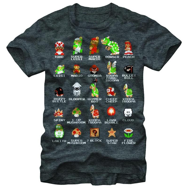 Nintendo Pixel Cast Tshirt