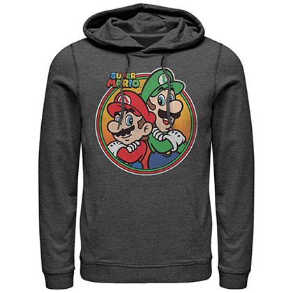 Nintendo Mario Bros Gray Pullover Hoodie