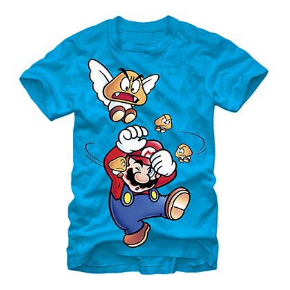 Nintendo Mario Get Off Me Blue T-Shirt