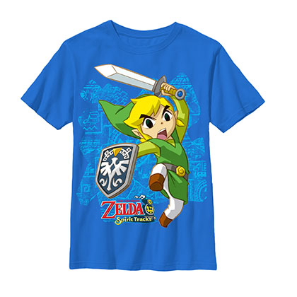 Nintendo Legend Of Zelda Link Up Blue Youth Boys 8-20 T-Shirt