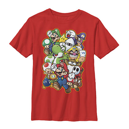 Nintendo Mario Showdown Red Youth Boys 8-20 T-Shirt