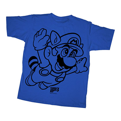 Nintendo Mario Line Flyer Blue Youth Boys 8-20 T-Shirt