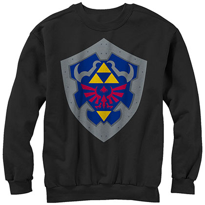 Nintendo Legend of Zelda Simple Shield Black Sweatshirt