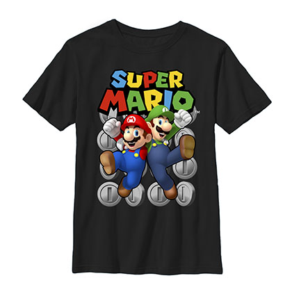 Nintendo Super Mario Bros. Ultimate Black Youth Boys 8-20 T-Shirt