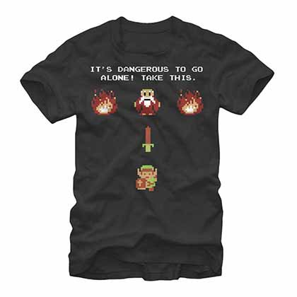 Legend Of Zelda Nintendo Be Prepared Black T-Shirt
