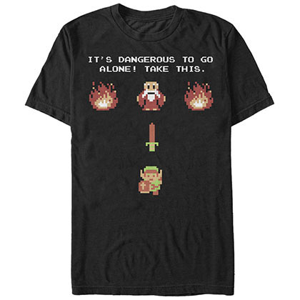 Nintendo Be Prepared Black T-Shirt