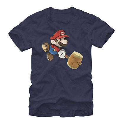 Nintendo Paper Mario Hammer Blue T-Shirt
