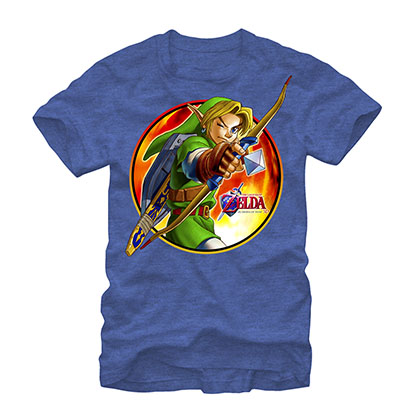 Nintendo Legend Of Zelda Archer Link Blue T-Shirt