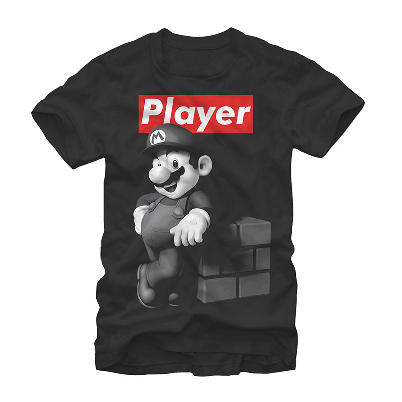 Nintendo Mario Player Black T-Shirt
