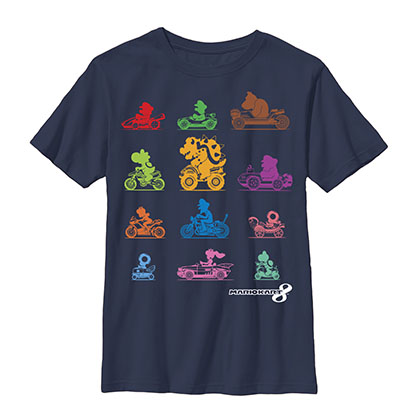 Nintendo Mario Kart Racers Blue Youth Boys 8-20 T-Shirt