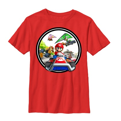 Mario Kart Youth Red Tshirt