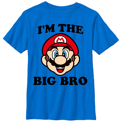 Nintendo Mario Big Bro Blue Unisex Youth T-Shirt