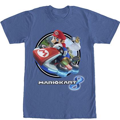 Nintendo Mario Kart Circle 8 Blue T-Shirt