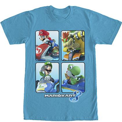 Nintendo Mario Kart Boxes Blue T-Shirt
