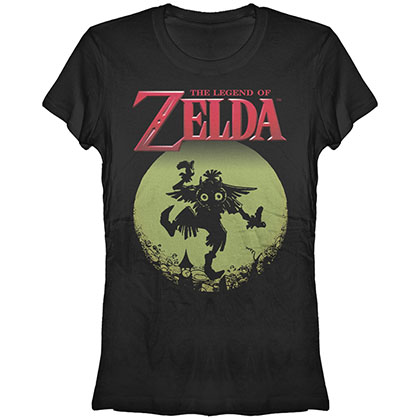 Nintendo Legend Of Zelda Majora Moon Black Juniors T-Shirt