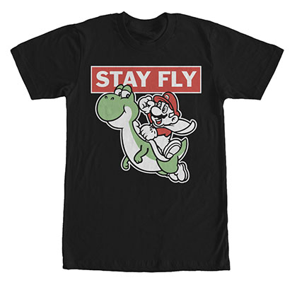 Nintendo Mario Keep Fly Black T-Shirt