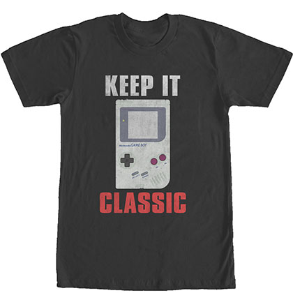 Nintendo Keep It Classic Gameboy Black T-Shirt