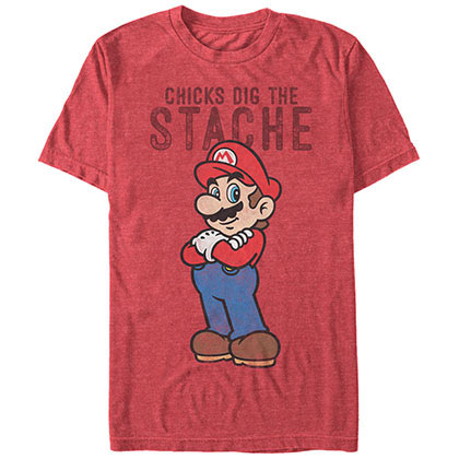 Nintendo Mario Stache Red T-Shirt